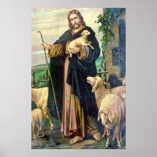 JESUS CHRIST THE GOOD SHEPHERD POSTER