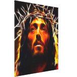 Jesus Christ The Saviour Stretched Canvas Prints