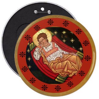 Jesus Christ, the Unsleeping Eye ICON 6 Cm Round Badge