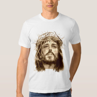 Jesus Christ with a Crown of Thorns Tees