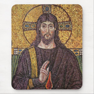 Jesus Christ with Holy Spirit Flame Mosaic Mouse Mat