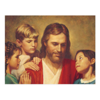 Jesus Christ with the Children Postcard