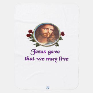 Jesus christian gifts receiving blanket