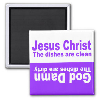 JESUS CLEAN-DIRTY DISHWASHER MAGNET
