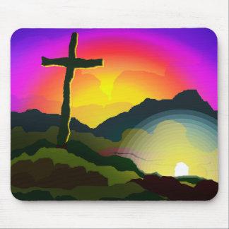 Jesus Conquers Death Mouse Mat