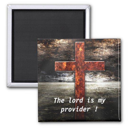 Jesus Cross with Bible scripture Magnet