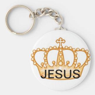 Jesus Crown Key Ring