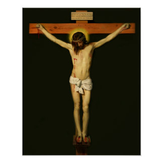 Jesus Crucified Crucifixion Cross Print Poster