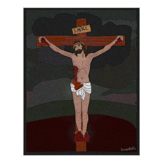 Jesus Crucified for Sins Poster
