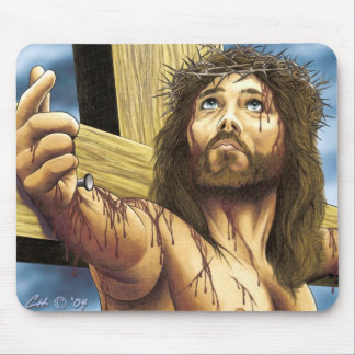 Jesus Crucified Mouse Pad