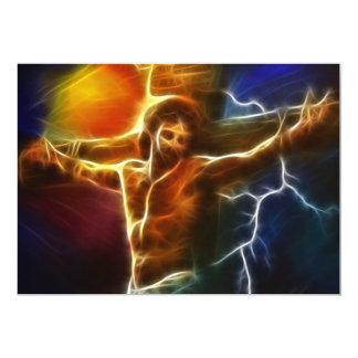 Jesus Crucifixion 2 13 Cm X 18 Cm Invitation Card