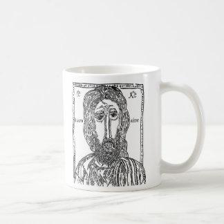 Jesus cup of coffee basic white mug