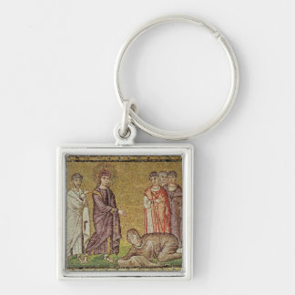 Jesus Cures the Woman who Bleeds Key Ring