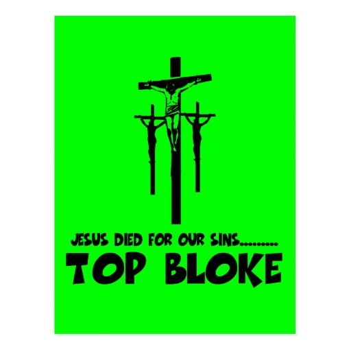 Jesus died for our sins post cards