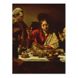 Jesus Dining in Emaus Post Cards