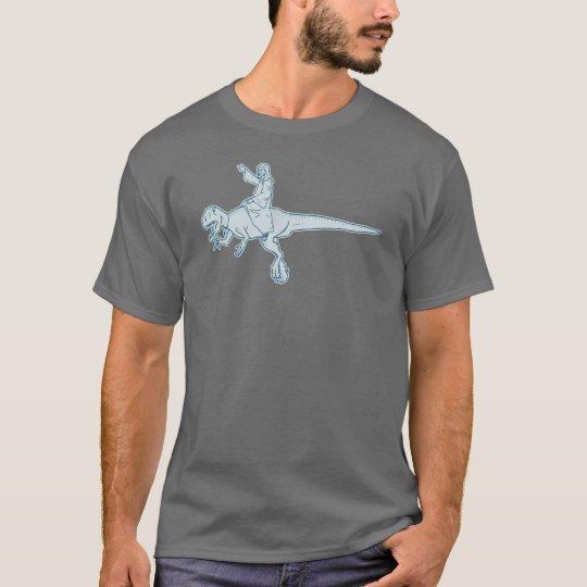 Jesus Dinosaur Rider tee shirt