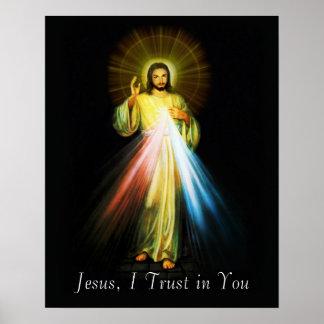 Jesus Divine Mercy Poster