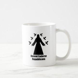 Jesus Doesn't Endorse Republicans Coffee Mug