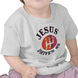Jesus Drives Me Christian baby t-shirt