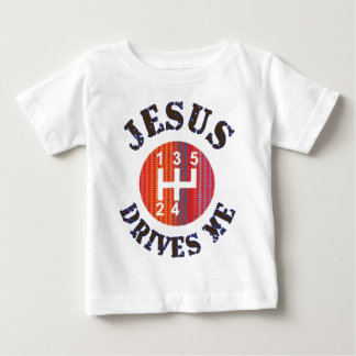 Jesus Drives Me Christian baby t-shirt
