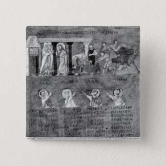 Jesus driving the merchants from the Temple 15 Cm Square Badge