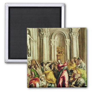 Jesus Driving the Merchants from the Temple Square Magnet