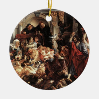 Jesus drove the money changers out of the temple O Christmas Ornament