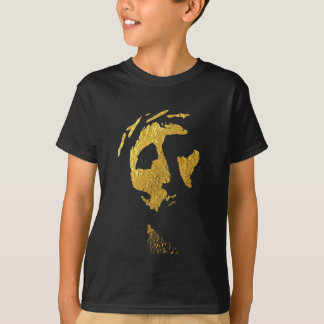 Jesus Face in Gold Tee Shirts