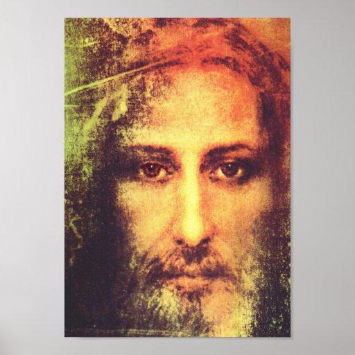 Jesus Face Portrait Posters