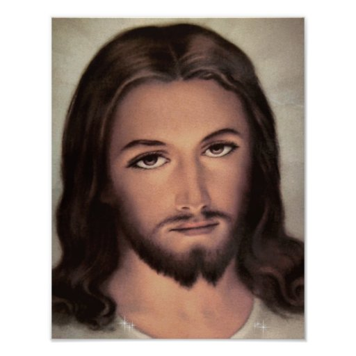Jesus Face Poster