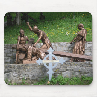 Jesus falls the first time - 3rd station mouse pad