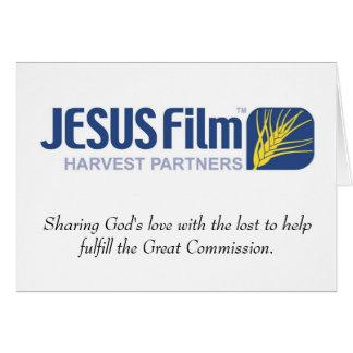 JESUS Film Harvest Partners note card