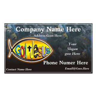 Jesus Fish Business Card