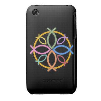 JESUS FISH CIRCLE DESIGN iPhone 3 COVER
