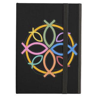 JESUS FISH CIRCLE DESIGN iPad AIR COVERS