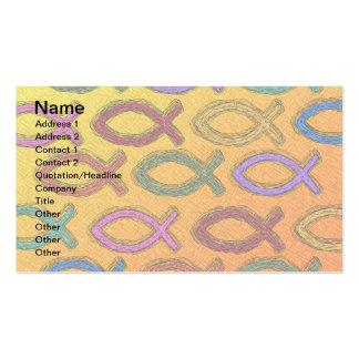 JESUS FISH DESIGN PACK OF STANDARD BUSINESS CARDS