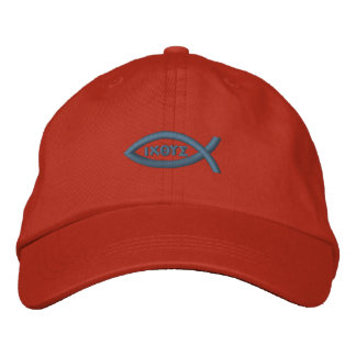 Jesus Fish Embroidered Hats