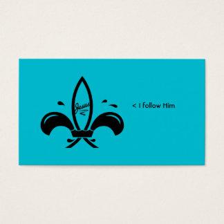 Jesus Fish Fleur De Lis Social Business Card