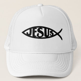 Jesus Fish (Hat Black) Trucker Hat