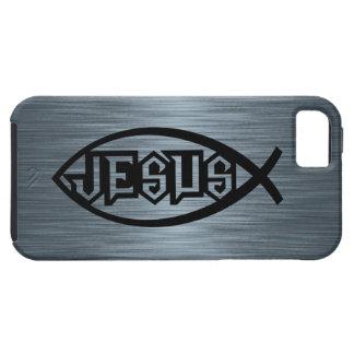 Jesus Fish Ichthys Fish Metallic Look iPhone 5 Cases