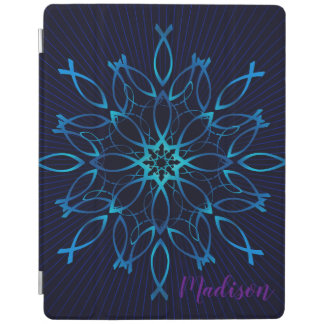 Jesus fish mandala iPad cover