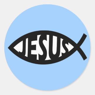 Jesus Fish Round Sticker