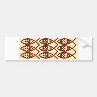 Jesus Fish Symbol Car Bumper Sticker