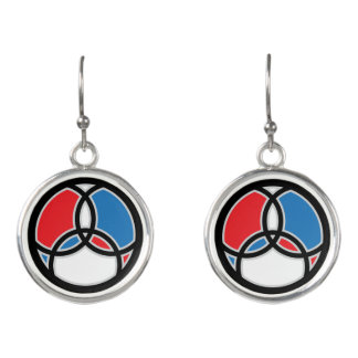 Jesus Fish Trinity Stained Glass Earrings