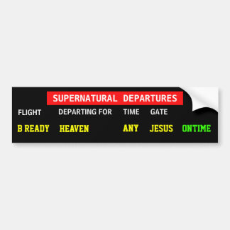 Jesus Flight Plan Car Bumper Sticker