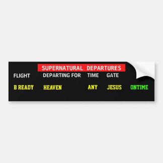 Jesus Flight Schedule Car Bumper Sticker