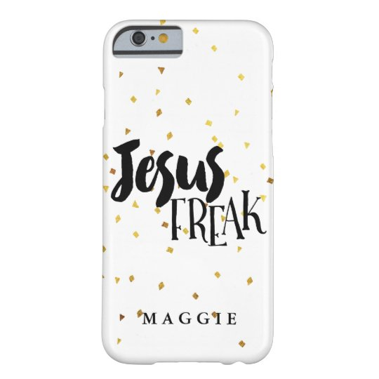 Jesus Freak Gold Shimmer Confetti Barely There iPhone
