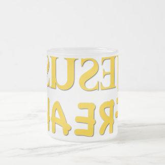 Jesus Freak (SUSEJ KAERF) Frosted Glass Mug
