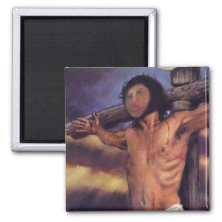Jesus fresco of Spanish Pensionistin Square Magnet