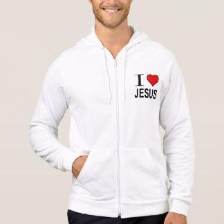 Jesus Gifts I Love Jesus Logo on a zip jacket